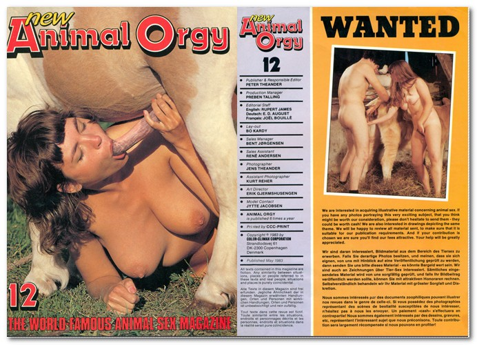 Vintage Zoo Magazines - Animal Orgy 12